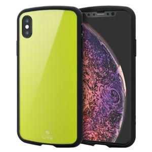 (まとめ)エレコム iPhone XS/TOUGH SLIM LITE/グリーン PM-A18BTSLGN【×2セット】