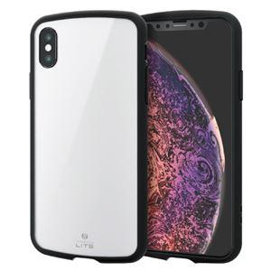 (まとめ)エレコム iPhone XS/TOUGH SLIM LITE/ホワイト PM-A18BTSLWH【×2セット】