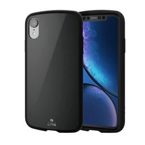 (まとめ)エレコム iPhone XR/TOUGH SLIM LITE/ブラック PM-A18CTSLBK【×2セット】