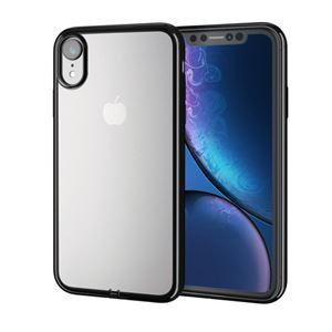 (まとめ)エレコム iPhone XR/ソフトケース/サイドメッキ/ブラック PM-A18CUCTMBK【×2セット】