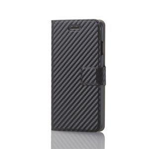(まとめ)エレコム iPhone8/ソフトレザーカバー/薄型/磁石付スナップ/カーボン調(ブラック) PM-A17MPLFUSCB【×2セット】