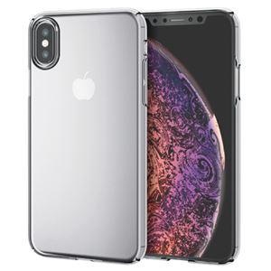 (まとめ)エレコム iPhone XS/シェルカバー/極み/クリア PM-A18BPVKCR【×2セット】