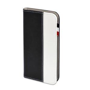 (まとめ)日本トラストテクノロジー レザータッチ ブックタイプケース iPhone7 ブラック BOOKIP7-BK【×2セット】