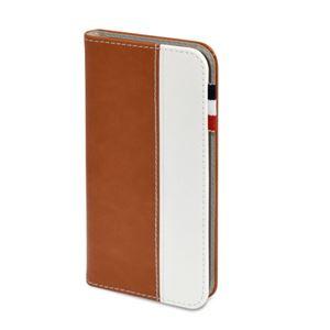 (まとめ)日本トラストテクノロジー レザータッチ ブックタイプケース iPhone7 ブラウン BOOKIP7-BR【×2セット】
