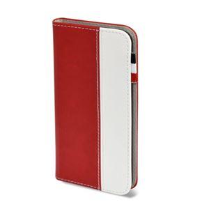 (まとめ)日本トラストテクノロジー レザータッチ ブックタイプケース iPhone7 レッド BOOKIP7-RD【×2セット】