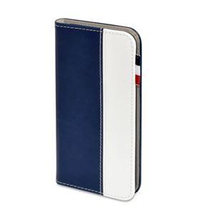(まとめ)日本トラストテクノロジー レザータッチ ブックタイプケース iPhone7 ネイビー BOOKIP7-NB【×2セット】