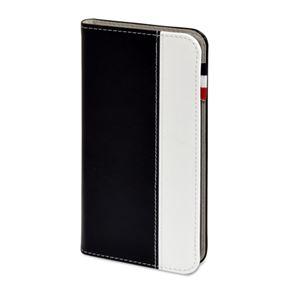 (まとめ)日本トラストテクノロジー レザータッチ ブックタイプケース iPhone7Plus ブラック BOOKIP7P-BK【×2セット】