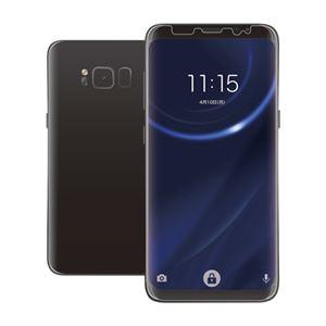 (まとめ)エレコム Galaxy S8用フルカバーフィルム/衝撃吸収/光沢 PM-GS8FLPRG【×2セット】
