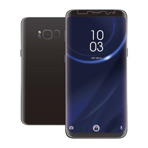 (まとめ)エレコム Galaxy S8+用フルカバーフィルム/衝撃吸収/光沢 PM-GS8PFLPRG【×2セット】