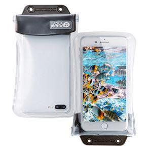(まとめ)エレコム スマートフォン用防水・防塵ケース/オールクリア/Lサイズ/ブラック P-WPSAC02BK【×2セット】