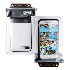 (まとめ)エレコム スマートフォン用防水・防塵ケース/オールクリア/XLサイズ/ブラック P-WPSAC03BK【×2セット】