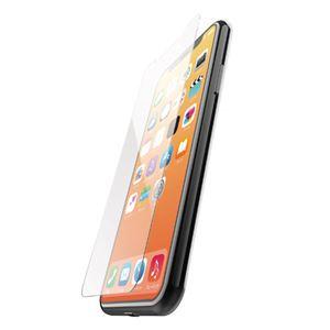 (まとめ)エレコム iPhone XS/ガラスコートフィルム/スムースタッチ PM-A18BFLGLPS【×2セット】