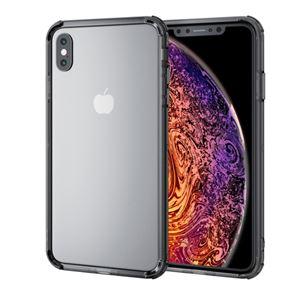 (まとめ)エレコム iPhone XS Max/ハイブリッドバンパー/ブラック PM-A18DHVBBK【×2セット】