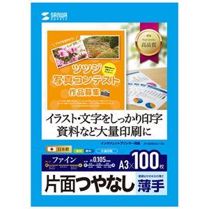 (まとめ)サンワサプライ インクジェット用片面つやなしマット紙 A3サイズ100枚入り JP-EM6A3-100【×5セット】