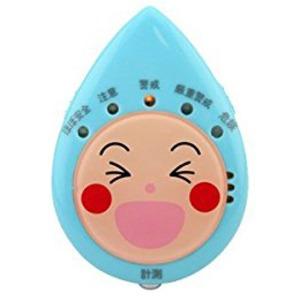 (まとめ)デザインファクトリー 見守り熱中症計(風邪ひき指数・温湿度計付き) ブルー【×5セット】