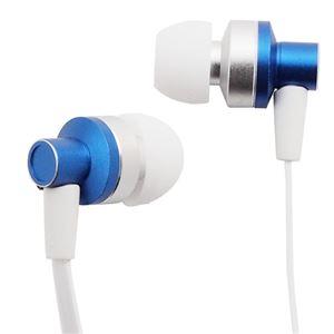 (まとめ)イヤホン マイク付き カナル型 スマートフォン対応 ブルー AS-CAMU001【×5セット】