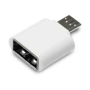 (まとめ)日本トラストテクノロジー OTG USB(A)→MicroUSB変換コネクター(ホワイト) OTGU2M-WH【×5セット】