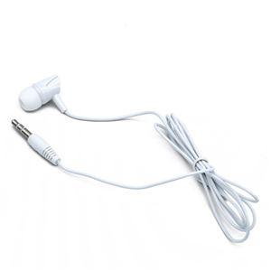 (まとめ)日本トラストテクノロジー 片耳 ステレオカナルイヤホン (ホワイト) JSC-030WH【×5セット】