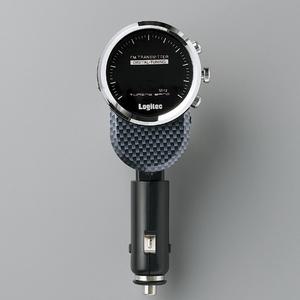 Logitec(ロジテック) 充電機能搭載 車載用FMトランスミッター (カーボン) LAT-FM120UCA