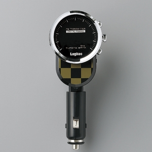 Logitec(ロジテック) 充電機能搭載 車載用FMトランスミッター (ダミエ) LAT-FM120UDM