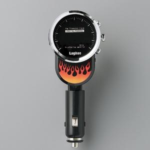 Logitec(ロジテック) 充電機能搭載 車載用FMトランスミッター (ファイヤーブラック) LAT-FM120UFBK
