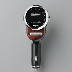 Logitec(ロジテック) 車載用FMトランスミッター ウッド LAT-FM311UWD