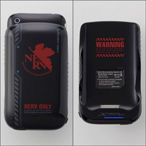 エヴァンゲリヲン iPhone3G(S)専用筐体保護型蓄電器 NERVモデル