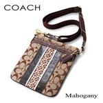 COACH(コーチ) スカーフストライプショルダーバッグ MAHOGANY/BKHMA
