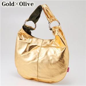 MelieBianco(メリービアンコ) シャイニーバッグ S8-174 Gold×Olive