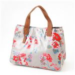 Cath Kidston バッグ STAND UP TOTE with LEATHER  230100 Autumn Flowers Stone