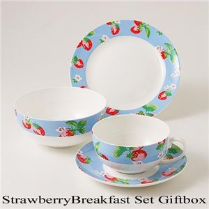 【在庫処分特価】Cath Kidston 3Pcs Strawberry Breakfast Set GiftBox