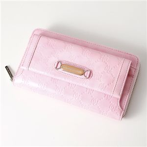 Pinky Wolman(ピンキーウォルマン) エナメル 長財布 Pink 34504・ラウンド