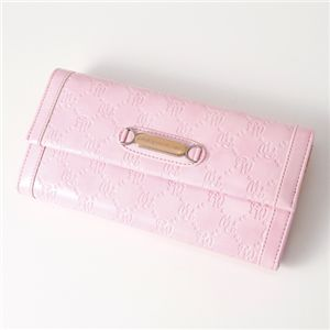 Pinky Wolman(ピンキーウォルマン) エナメル 長財布 Pink 34503・ホック