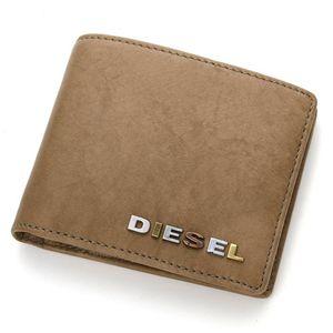 DIESEL(ディーゼル) レザー 2つ折り財布 XM62 PR507 T7407・B/Dusty Green