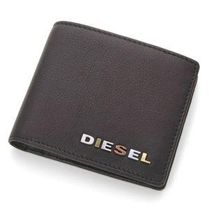 DIESEL(ディーゼル) レザー 2つ折り財布 XM62 PR507 T8013・B/Black