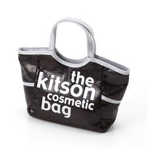 kitson(キットソン) スパンコールコスメティックバッグ(SEQUIN COSMETIC TOTE)KSG0146 Black×White