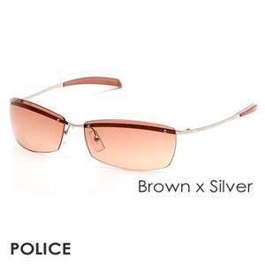 POLICE サングラス 2744G 579R ブラウン×シルバー
