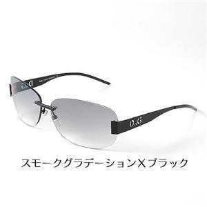 D&G サングラス 6041-01/8G スモークグラデーション×ブラック