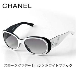CHANEL サングラス 5113A-97411/スモークグラデーション×ホワイトブラック