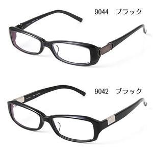GUCCI ダテメガネ 9044J-B9H/9044・ブラック(セリート、ギフトBOX、ケース付属)