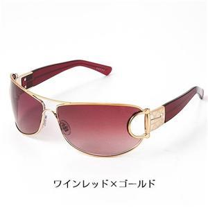 GUCCI サングラス Asian Fitting 2767F-RLV/YU/ワインレッド×ゴールド