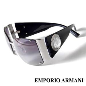 EMPORIO ARMANI サングラス 9458F/BGY/VK/ライトスモークグラデーション×シルバー&ブラック