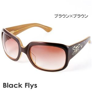 Black Flys サングラス MC FLYTTON-S BROWN LAMI/AMBER G ブラウン×ブラウン