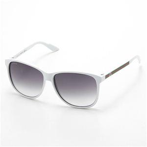 Gucci(グッチ) サングラス 1636-VK6/9C ライトスモークグラデーション×ホワイト