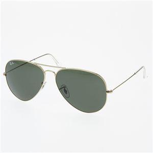 RayBan(レイバン) ティアドロップサングラス 3025-L0205 ダークグリーンスモーク×ゴールド(小)