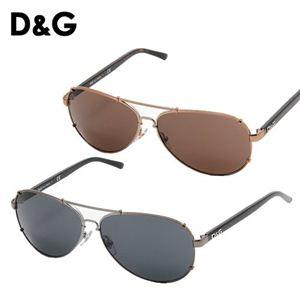 D&G(ディーアンドジー) サングラス 6047-079/87/スモーク×ガンメタル&ブラック