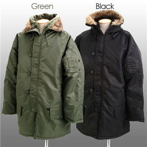 ROTHCO社 N-3B ミリタリージャケット ブラック Mサイズ