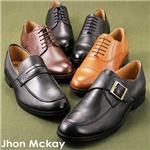 Jhon Mckay トラディショナル レザービジネスシューズ 1204 ローファー/ブラック 27.0