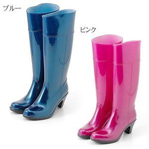 2008年新作モデル 完全防水パールレインブーツ ピンク M(23.0〜23.5cm)
