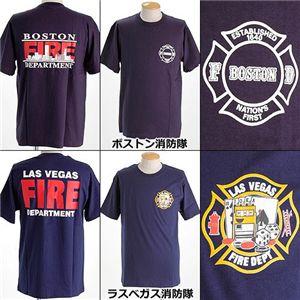 米国着用禁止Tシャツ ボストン消防隊 L